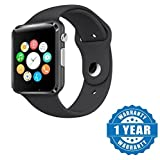 #5: Konarrk A1 Bluetooth Smart Watch with Camera and Apps like Facebook, Whatsapp, QQ, WeChat, Twitter, Health, Pedometer, Sedentary Remind Suitable with all Android or Iphone Devices (Color May Vary)
