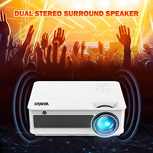 Projector Video Projector HD 4000 Lumens LED Projector 200  LCD Home Cinema Theater Projector Support 1080P HDMI VGA AV USB MicroSD for Home Entertainment  Party and Games Compatible with Laptop iPhone iPad Smartphone Fire TV Stick Xbox  White