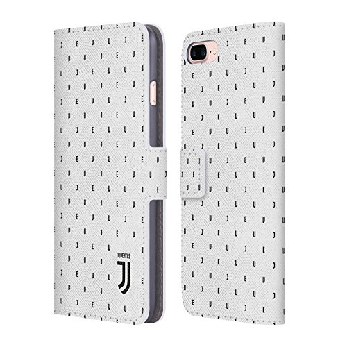 Ufficiale Juventus Football Club Banale Lifestyle 2 Cover a portafoglio in pelle per Apple iPhone 6 / 6s Bianco Logo Pattern