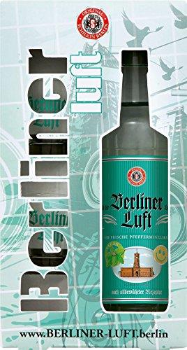 Berliner Luft Pfefferminzlikör 0,7 Liter + 2 Gläser in Geschenkverpackung - Luft Glas