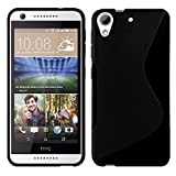 HTC Desire 626G Dual Sim - TPU Schutzhülle S-Style S Design Case Schutz Cover Etui Hülle in Schwarz