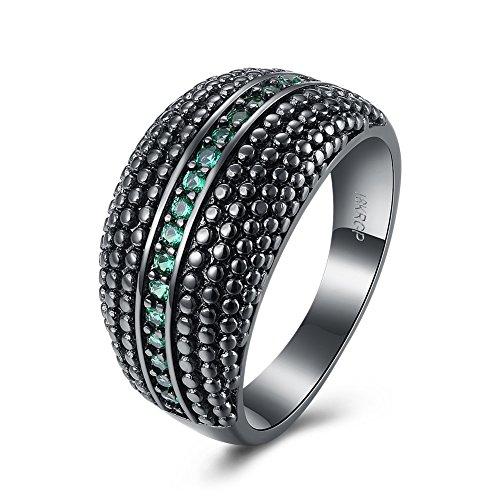weibliche grüne Zircon Legierungs Ring Frauen Schmucksache Halloween Geschenk (Weiblicher Schminken Für Halloween)