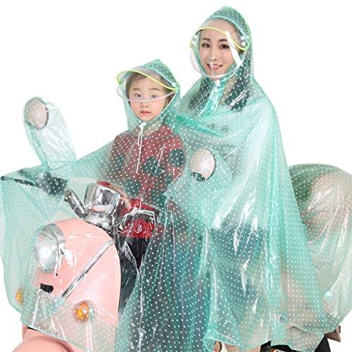 GBGLL a doppio impermeabile, impermeabile impermeabile bicicletta elettrica auto singolo adulti impermeabile poncho aumento ispessimento batteria moto auto trasparente impermeabile poncho Ting