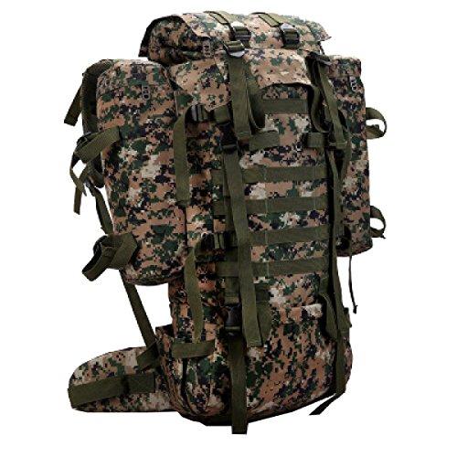 Xin.S80L Camouflage Sport All'aria Aperta Borsa Da Viaggio Per L'alpinismo Entrambi I Lati Dello Zaino Di Camuffamento Di Montagna Campeggio Tascabile Borsa Da Montagna Zaino. 3 Colori B