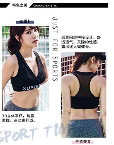 ZCJB Intimo Sportivo Femminile Antiurto Da Jogging Raccogliere Insieme Yoga Vest Reggiseno Sexy Ad Alta Resistenza ( Colore : Nero , dimensioni : Xl ) Nero