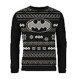 London Co. DC Batman Black Unisex Christmas Knitted Jumper