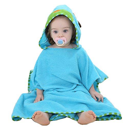 (Ymwave Kapuzentuch Kinder Bade-Poncho Badetuch Handtuch mit Kapuze für Jungen und Mädchen 100% Baumwolle Kapuzenhandtuch mit Tiermotiv Poncho Towel Strand 0-6 Jahre 60x60cm, Hund, )