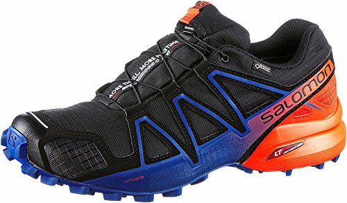 Salomon Speedcross 4 GTX Ltd, Scarpe da Trail Running Uomo, Nero (Black/Scarlet Ibis/Surf The Web 000), 45 1/3 EU