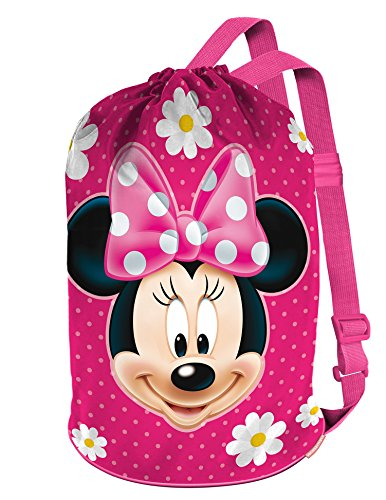 Karactermania Minnie Mouse Fiori Tote Bag e la spiaggia, 40 cm, Rosa