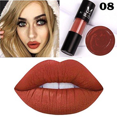 KIMODO Gloss, Miss jeune Liquide Rouge à Lèvres Hydratant Velours Rouge à lèvres Cosmétique Beauté Maquillage, Longue durée / Kissproof / Étanche