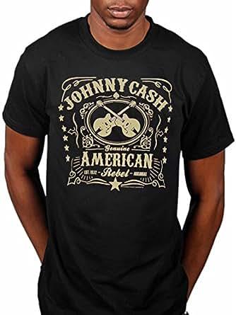 Official T Shirt JOHNNY CASH Vintage Classic AMERICAN REBEL Logo M