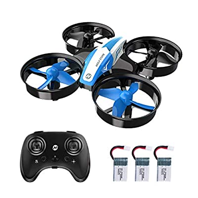 Holy Stone HS210 Mini Drone for Kids and Beginners RC Nano Quadcopter Indoor Small Helicopter Plane with Auto Hovering, 3D Flip, Headless Mode and 3 Batteries, Great Gift Toy for Boys and Girls, Blue