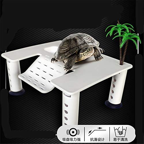 JRTAN & Pet Turtle Trocknen zurück DIY Montage Gürtel Klettern Kunststoff schwimmende Plattform, Höhe 14 cm -