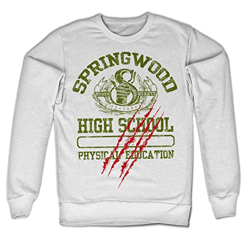 Officially licensed merchandise springwood high school sweatshirt (white) xx-large