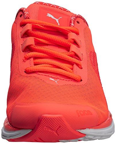 Puma - Faas 500 V4 Power Warm, Scarpe da corsa Donna Arancione (Orange (Fiery Coral-Silver Metallic))