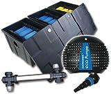 Filter Set Bio Teichfilter CBF3 + Teichpumpe Z8000 + UVC 55 Watt Edelstahl