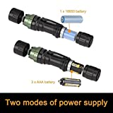 Coquimbo Super Bright Led Torch Pocket Torch Light 1000 Lumen XML2 T6 Adjustable Focus Zoomable LED Flashlight Water Resistant Camping Torch, Batteries not Included Bild 2