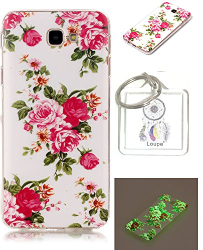 Ultra Slim Dünn Silikon Luminous Silikonsoftshell TPU für Galaxy J7 Prime, Niedliche Cartoon...