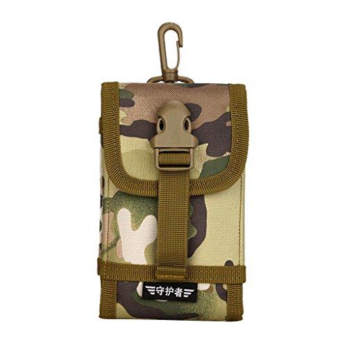 MagiDeal Sacchetto Universale Marsupio A Spalla Da Telefono Cellulare MOLLE Con Cinghia Per Viaggio Trekking Campeggio - CP Camo CP Camo