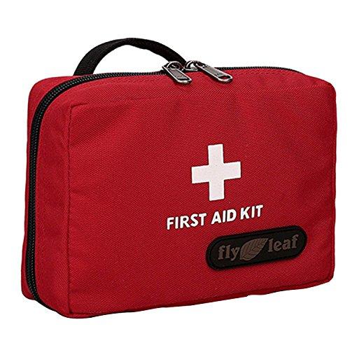 Portable Reisen Camping Home Outdoor leer Medizinischen Notfall überleben Erste Hilfe Seesack Taille Beutel Beutel Hand Tasche Rot