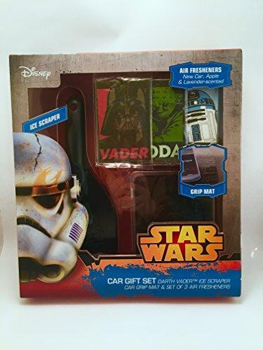 Oficial de Star Wars Rascador de hielo Alfombrilla de agarre y ambientadores coche Presente Set de regalo