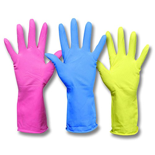 safecare 4931–Größe 9/Large–Haushalt Gummi-Handschuhe–Blau–1Paar (Blaue Gummi-handschuhe)