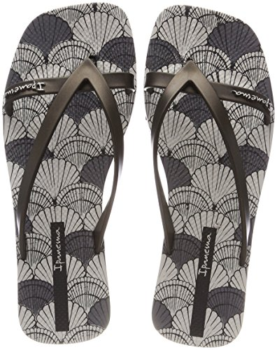 Ipanema Fashion Kirey V Fem, Chanclas para Mujer, (Grey/Black 8869), 38 EU