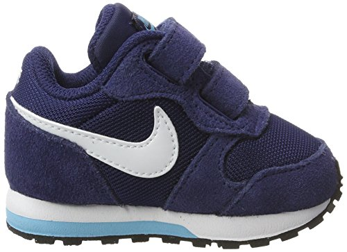 Nike Mädchen Md Runner 2 (Tdv) Turnschuhe Blau (Binary Blue / White / Vivid Sky / Black)