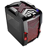 Aerocool EN52780 Strike-X Cube PC-Gehäuse (micro-ATX, 1x 5,3 Zoll externe, 3x 3,5 Zoll interne, 2x USB 3.0) schwarz/rot