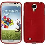 PhoneNatic Étui pour Samsung Galaxy S4Coque de Rouge brossé Galaxy S4Étui...