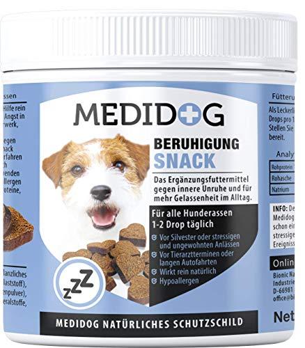 Medidog 400g Premium Relax Drops für Hunde, natürliches Beruhigungsmittel, Extra kaltgepresst und getreidefrei, Gegen Angst, Entspannung, Innere Ruhe