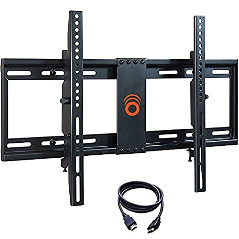 ECHOGEAR Tilting Low Profile TV Wall Mount Bracket for 32-70 inch TVs - Up to 15 Degrees of Tilt for LED, LCD, OLED and Plasma Flat Screen TVs with VESA patterns up to 600 x 400 - EGLT1-BK