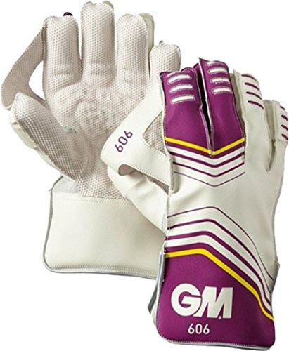 GM Gunn & Moore Cricket Sports 606Wicket Keeper Hand Schutz halten Handschuhe, weiß -