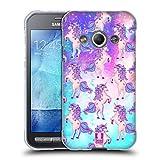 Head Case Designs Blaugruen Einhoerner Und Galaxie Soft Gel Hülle für Samsung Galaxy Xcover 3