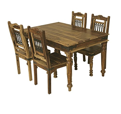 Jali Solid Sheesham Indian Rosewood 1 35 Cm Dining Table Four Chairs Solid Rosewood Dining Table And Chairs Dining Room Furniture Buy Online In Bahamas At Bahamas Desertcart Com Productid 53788669