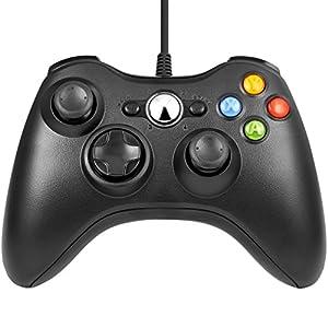 Gamepad Controller für Xbox 360,Wired Gamepad Controller mit Vibrationsspiel Controller Verbessertes ergonomisches und…