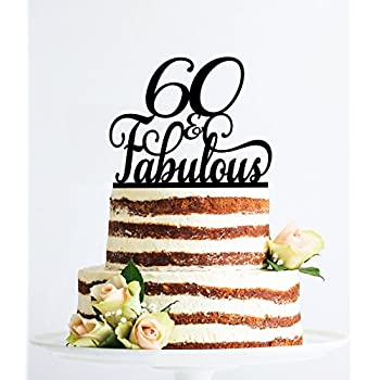 60 Et Fabuleuse Anniversaire Décoration élégante Décoration Pour