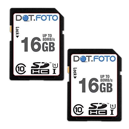 dotfoto-scheda-di-memoria-alta-velocita-sdhc-da-16-gb-fino-a-80-mb-sec-classe-10-uhs-1-2-pezzi-per-p