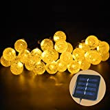 Everesta 19.7ft Outdoor Solar String Lights 30 LED Solar Decorative Power Patio Garden Lights 600mAH Waterproof Starry Fairy Lighting Christmas Decoration Lights(WarmWhite)