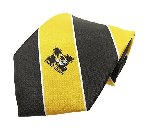 Donegal Bay NCAA Missouri Tigers Streifen Krawatte, One size, Gold