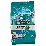 Wilkinson Sword Extra Sensitive Disposables Razors, Pack of 20