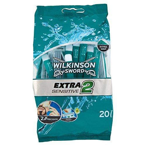 Wilkinson Sword Extra 2 Sensitive - Bolsa 20 Maquinillas
