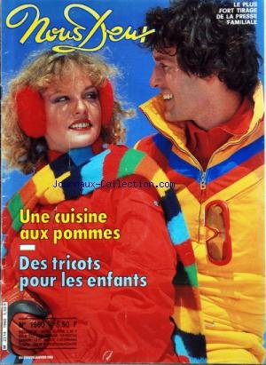 NOUS DEUX [No 1960] du 23/01/1985 - UNE CUISINE AUX POMMES -DES TRICOTS POUR LES ENFANTS par Collectif