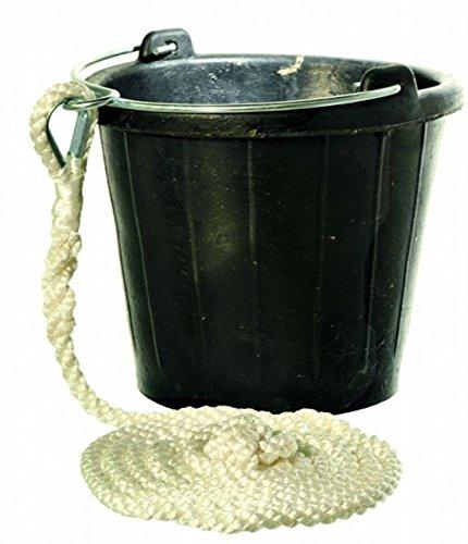 Yachticon Gummi Eimer Pütz mit Leine 8 Liter