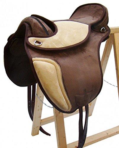 A&M Reitsport Baumloser Dressur Sattel Sheffield aus Kunststoff Braun/Beige, Größe:18 Zoll