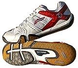 LI-NING AYZF007-3 Men's Badminton Shoes, White/Red, UK6.5