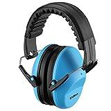 ORIA Kid Kapselgehörschützer, Gehörschutz Kids Earmuffs mit NRR 26dB & ANSI S3.19, Sicherheit Ohrenschützer mit Ungiftig Material und Verstellbare Kopfbügel für Kinder - Blau