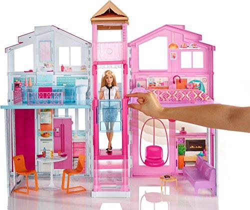 Barbie dly32 la casa di malibu con accessori e colori vivaci for Casa barbie prezzi