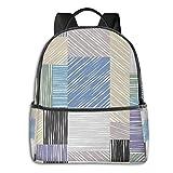 Schulrucksack Schultaschen Mädchen Teenager Rucksack Schultasche Schulrucksäcke wasserdichte Backpack für Damen Herren Geeignet 14 Zoll Notebook Quadratische Kastenformen