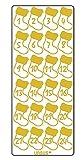 Ursus 593000124 - Kreativ Sticker, Adventskalender Stiefelchen, 5 Blatt, gold